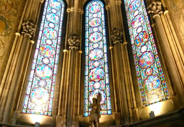 stained glass Lille cathedrale