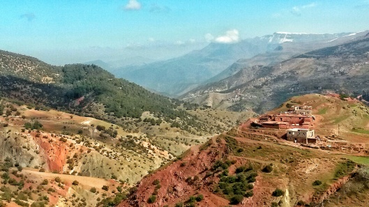 red iron soil Atlas mountains