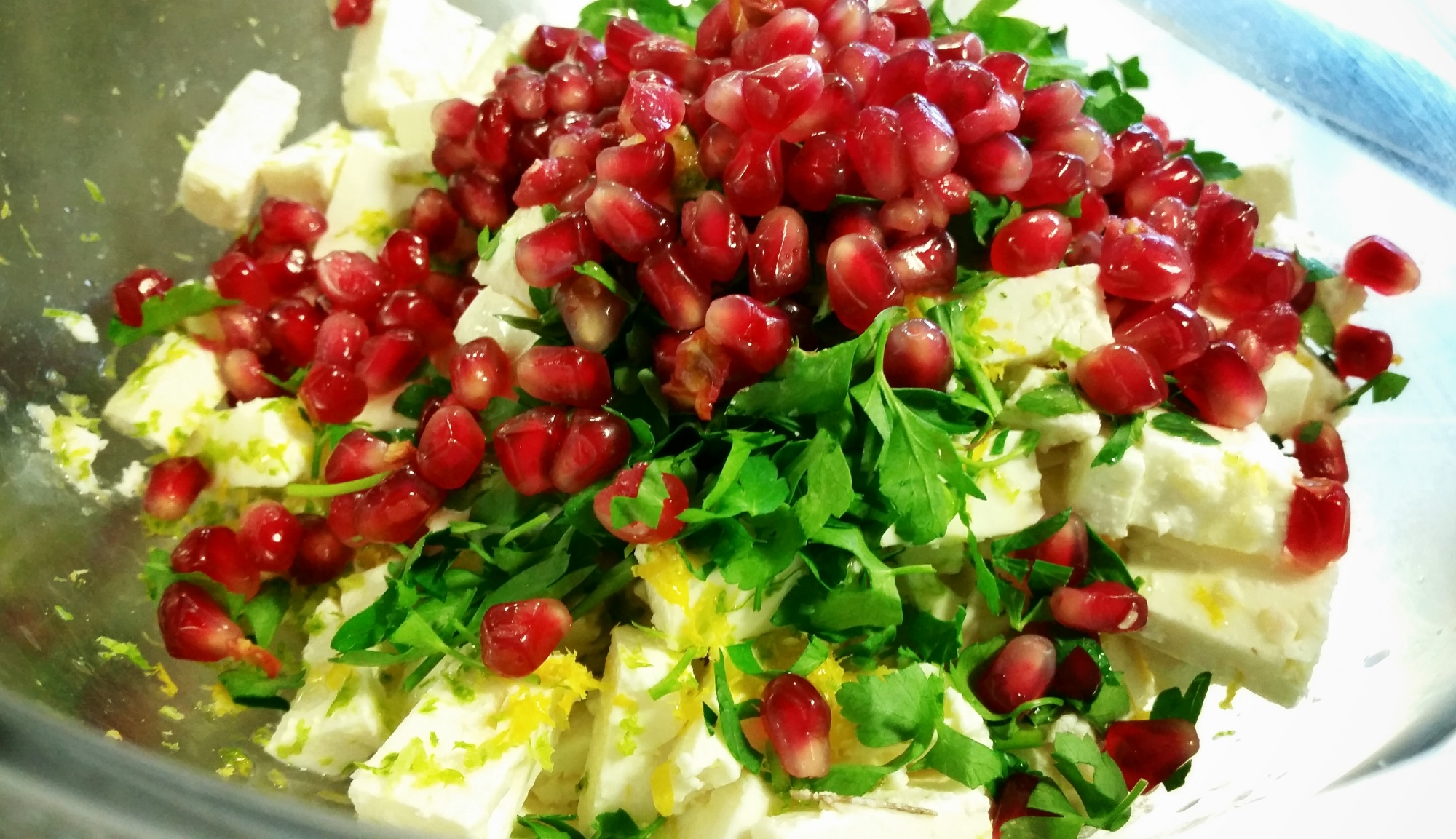 feta pomegranate salad