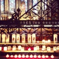 candles in Lille cathedral