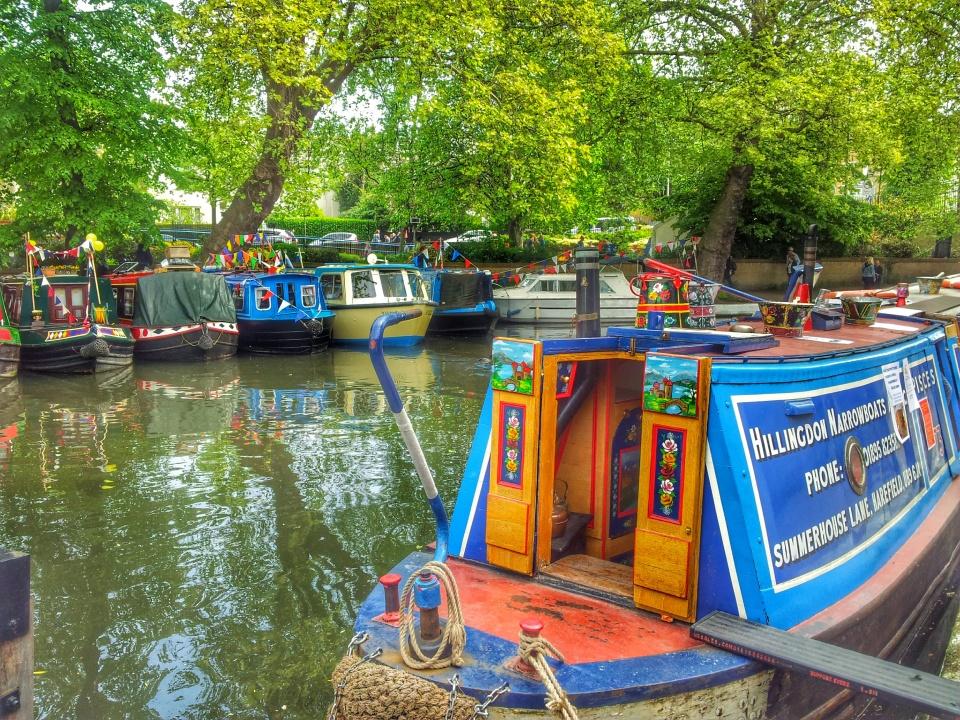 blue barge little venice