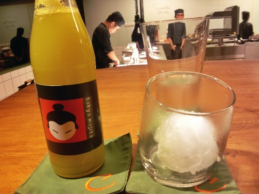 Tokyo Mojito cucumber ice