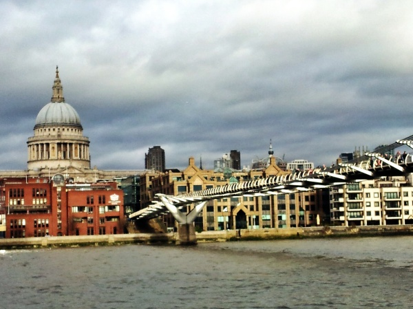 St Paul's London riverside view