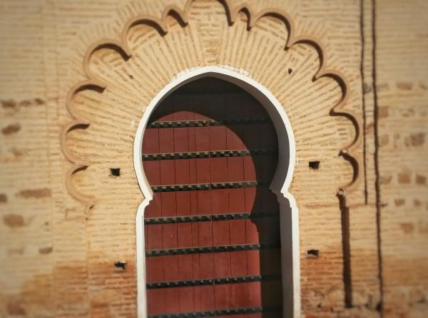 flowery arch door Morocco