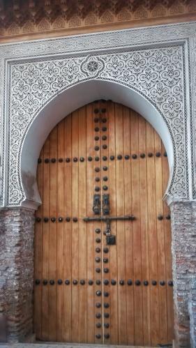 arch shaped door Marrakech