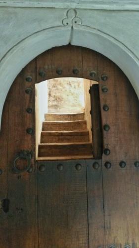 stairs through an arch Marrakech