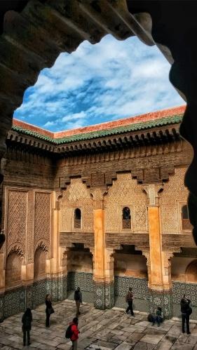 aerial view Medersea Ben Youssef Marrakech