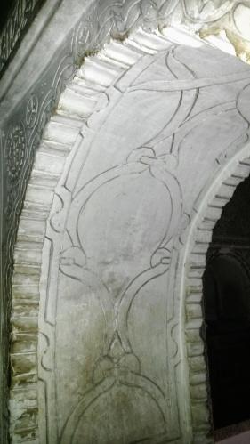white stone arch Marrakech