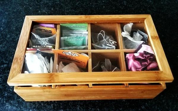wooden tea caddy chest