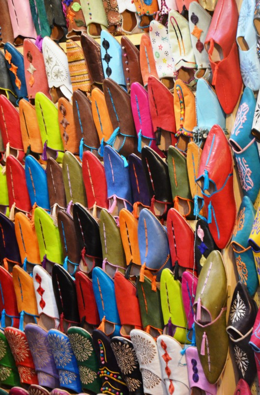 leather slippers markets Marrakech