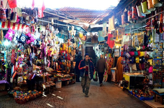 narrow streets Marrakech souks