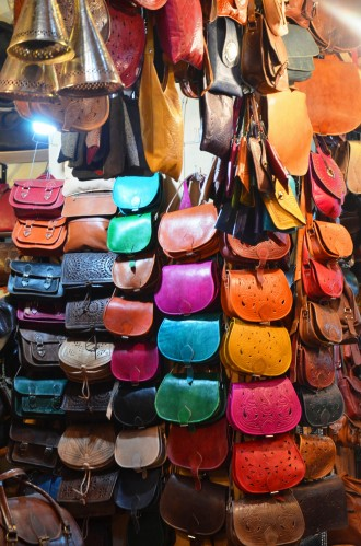 leather souks Morocco marrakech