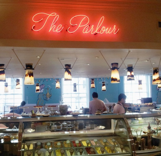 The Parlour Restaurant Entrance Sign Fortnum