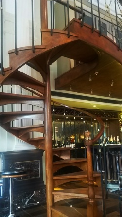 wooden staircase The Balcon Sofitel London