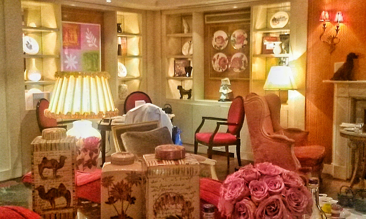 pink rose lounge afternoon tea Sofitel London