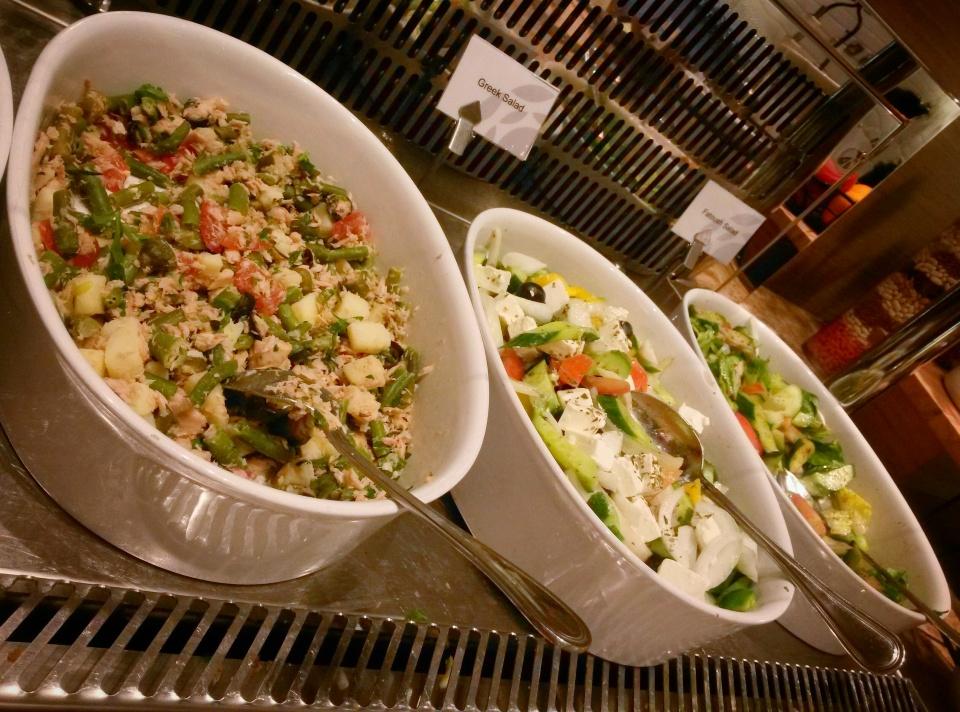 salad bar Plaza lounge