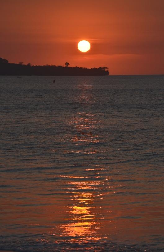 beautiful sunset Jimbaran Beach Bali