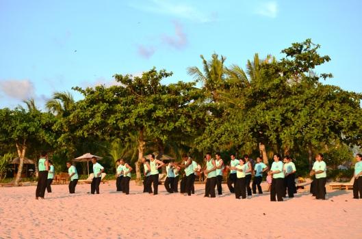 tai chi class Jimbaran Bay Bali