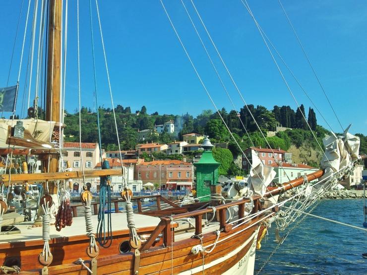 boats Piran harbour