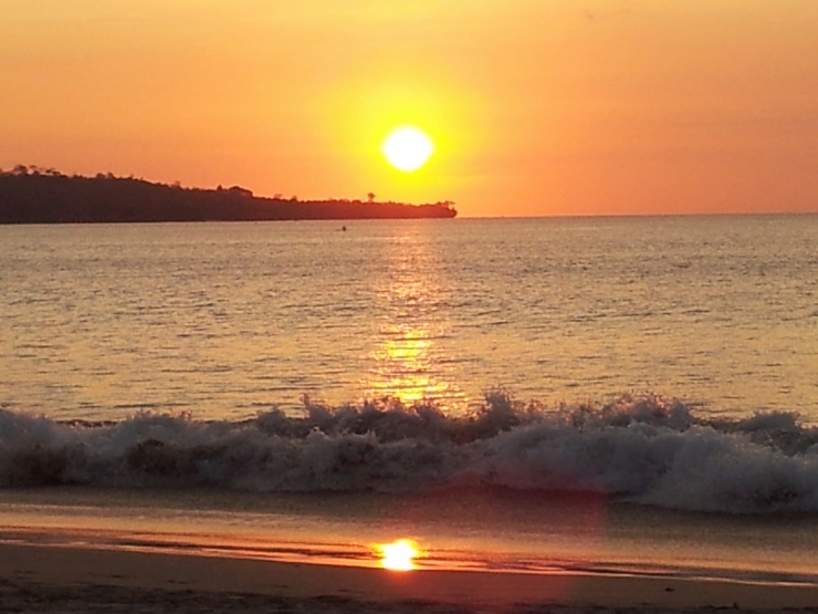 perfect sunset Jimbaran Bali