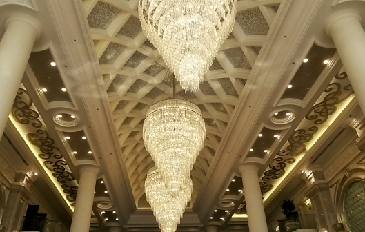 chandeliers Ritz Carlton luxury hotel