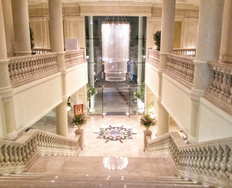 lobby staircase Ritz Carlton Grand Canal
