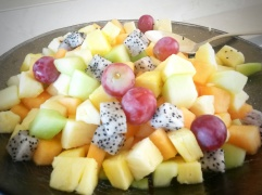 fresh fruit salad Ritz Carlton Abu Dhabi hotel