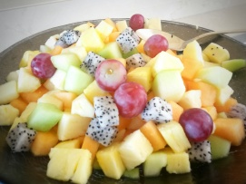 fresh fruit salad Ritz Carlton Abu Dhabi hotel