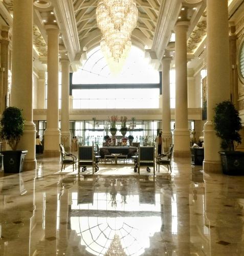 lobby Ritz Carlton hotel grand canal