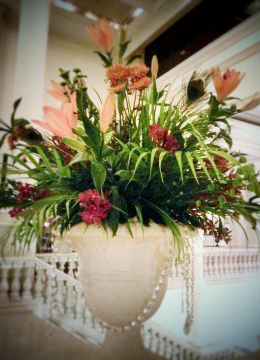 flower arrangement hotel lobby Abu Dhabi
