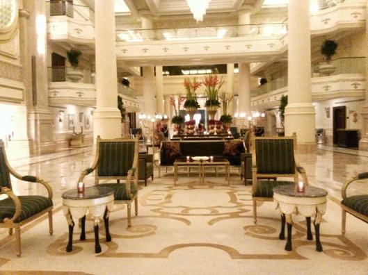 luxury hotel lobby Abu Dhabi