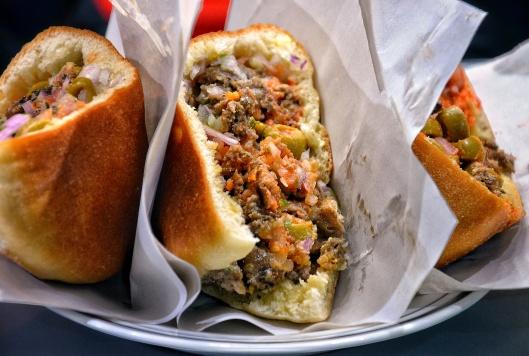 Moroccan sardine sandwich