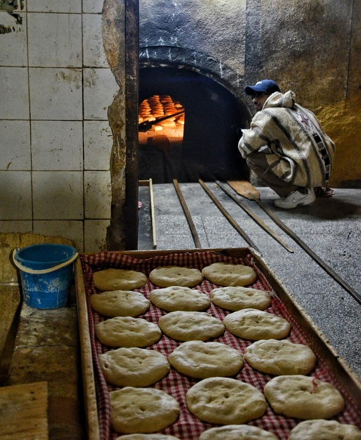 underground bread oven Marrakech Morocco