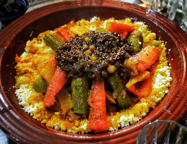 traditional Moroccan lamb couscous