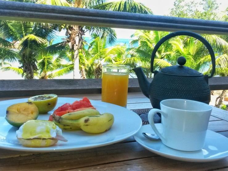 Constance Lemuria Seychelles resort breakfast