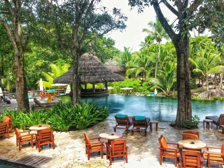 Constance resort Seychelles swimming pool