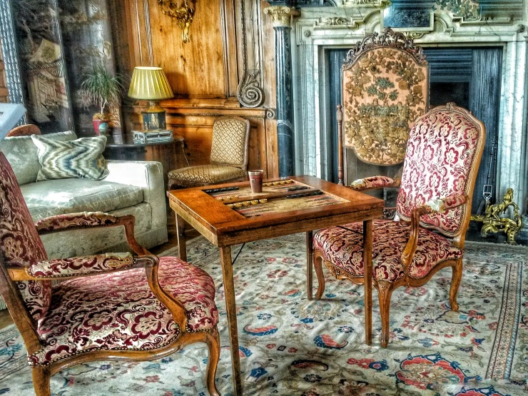 furniture furnishing inside Leeds Castle Kent