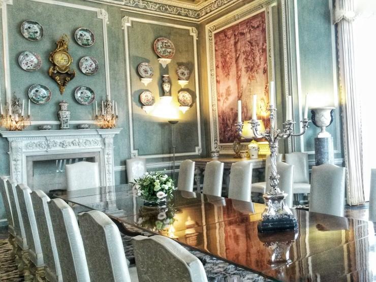 dining room Leeds Castle