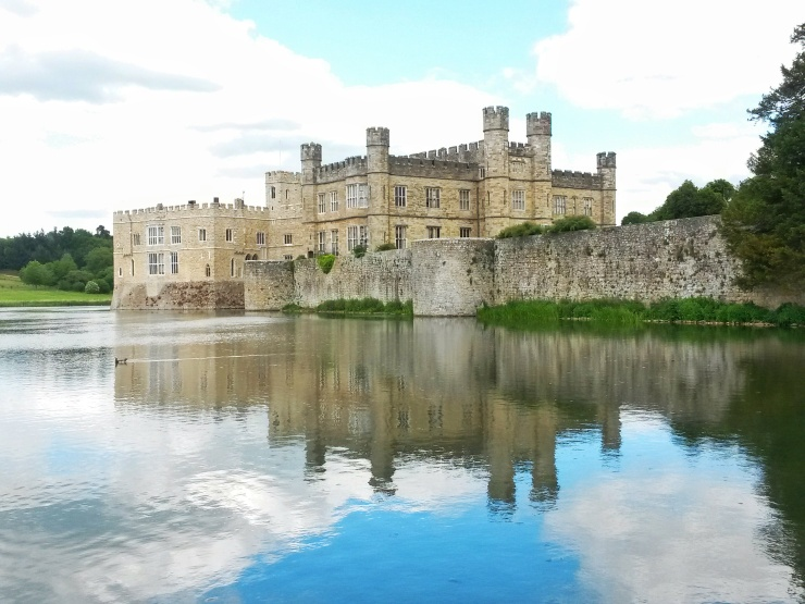 Leeds castle reflection wedding venue