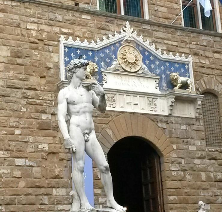 David statue Piazza della Signoria Florence