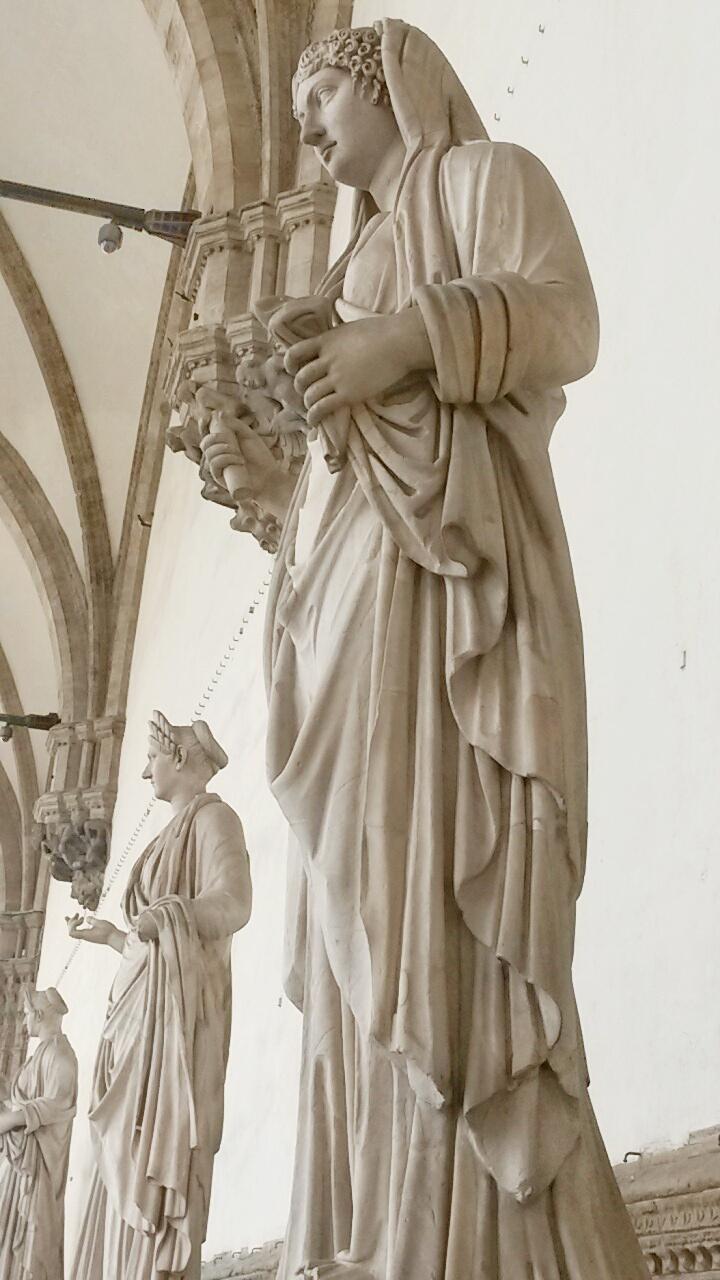 statues Piazza Signoria open square Florence