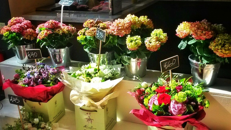 Villandry Moyses Stevens flower bouquets