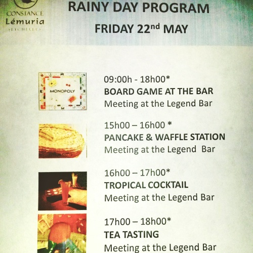rainy day activities Seychelles