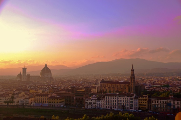Florence skyline view Piazzale Michelangelo