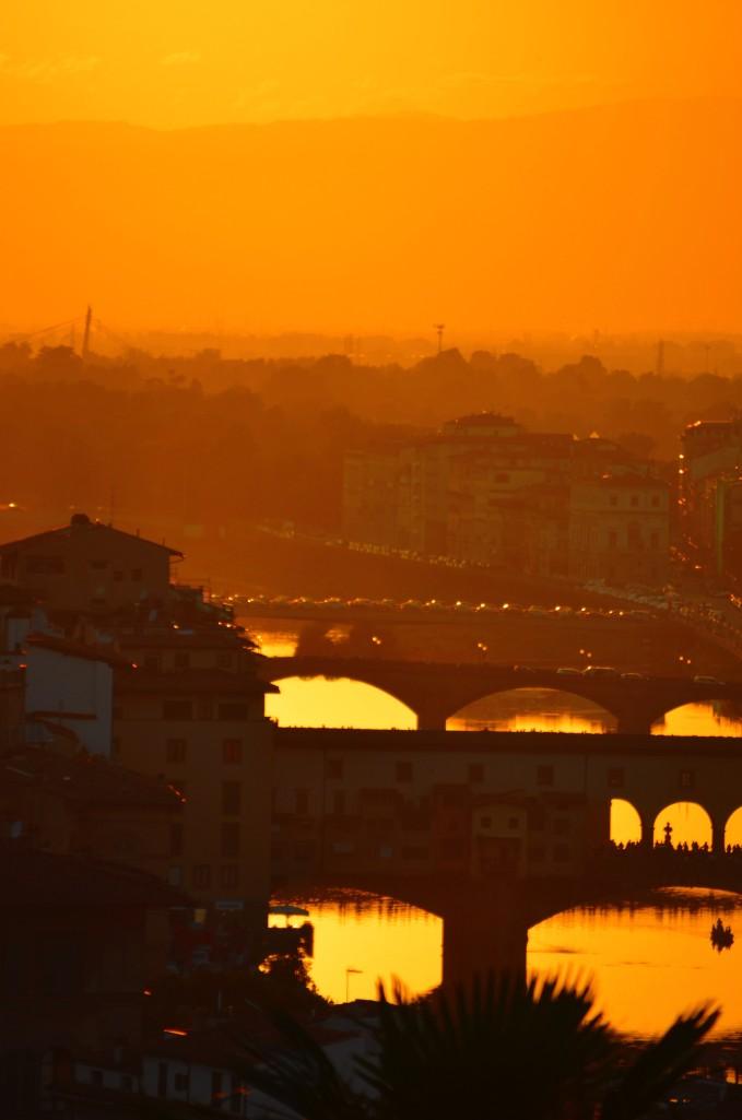 ponte vecchio view from Piazzale Michelangelo
