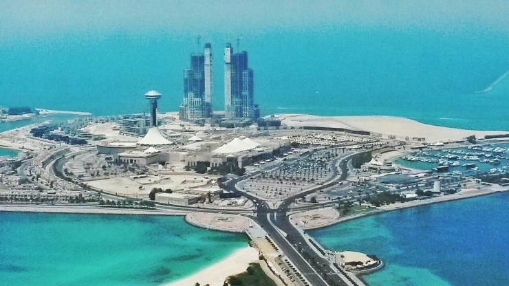 Abu Dhabi Skyline Aerial Views