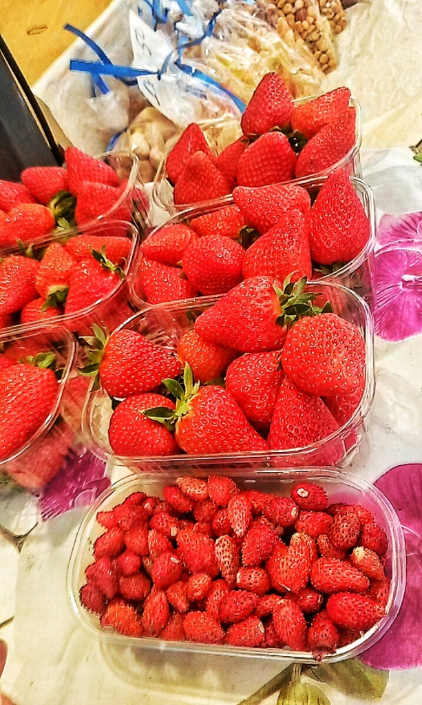 fresh strawberries Venice market