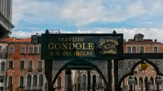 gondola ride station Grand Canal