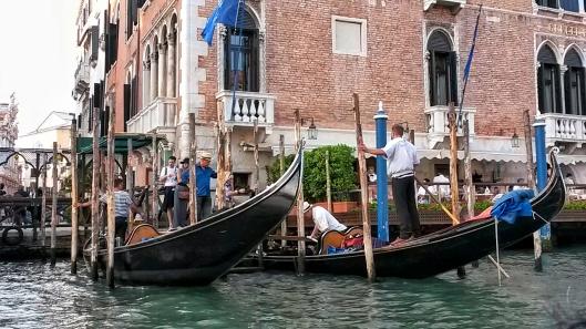 boarding a gondola Venice