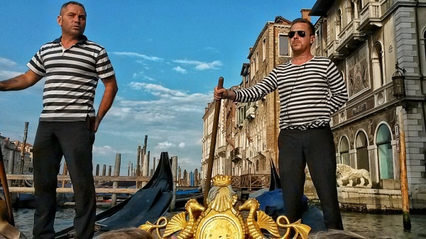 Venice gondoliers uniform stripes
